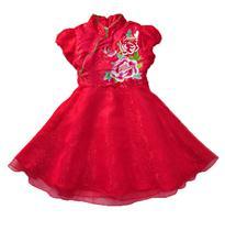 中国风牡丹花裙