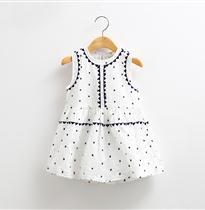 三角形线条胸前刺绣裙