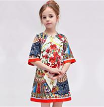 中国风牡丹裙