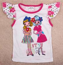 女孩贴布童T恤