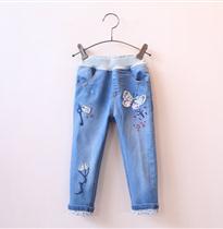 蝴蝶风筝牛仔裤