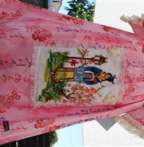 日本美女绣花裙