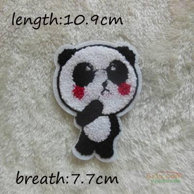 熊猫 毛巾绣